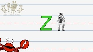 Write the letter Z | Alphabet Writing lesson for children | The Singing Walrus