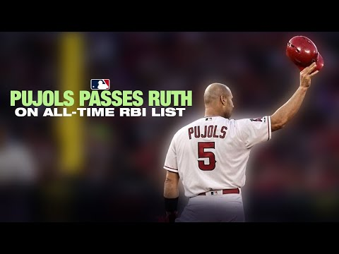 Pujols passes Babe Ruth on the RBI list