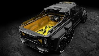Mercedes X-Class 6x6 Pickup Custom Exy Monster X Concept