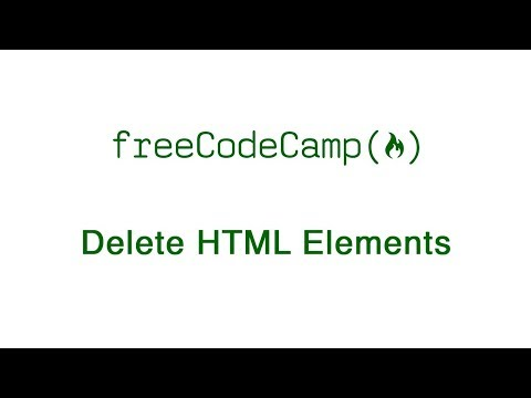 Basic HTML And HTML5: Delete HTML Elements | FreeCodeCamp