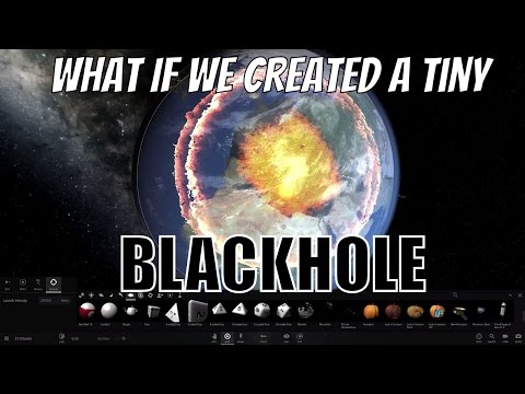 What If a Tiny Black Hole Appeared Next To Earth?