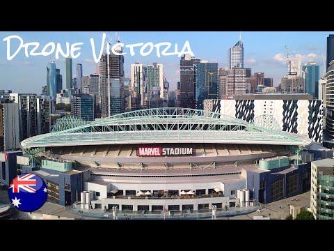 Marvel Stadium - Melbourne, Australia (World's First Indoor Cricket Stadium) [4K-UHD]