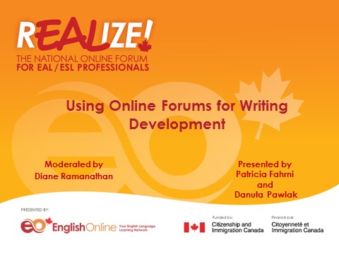 REALIZE 2015 Forum - Using Online Forums for Writing Development