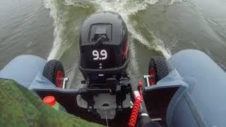 Хайди 9,9+RiverBoats 370  Первый выход на воду