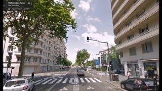 Часть 31.  Город Лион.  Part 31.  City Lyon.(Картографические данные: Google, DigitalGlobe Map data : Google, DigitalGlobe Видео создано на основе дорожных панорам и Карт Google..., 2016-03-30T18:36:31.000Z)