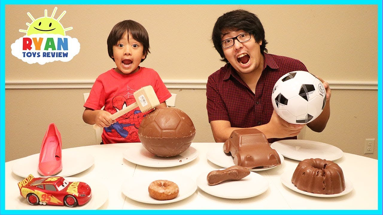 Chocolate Food Vs Real Challenge With Ryan Toysreview