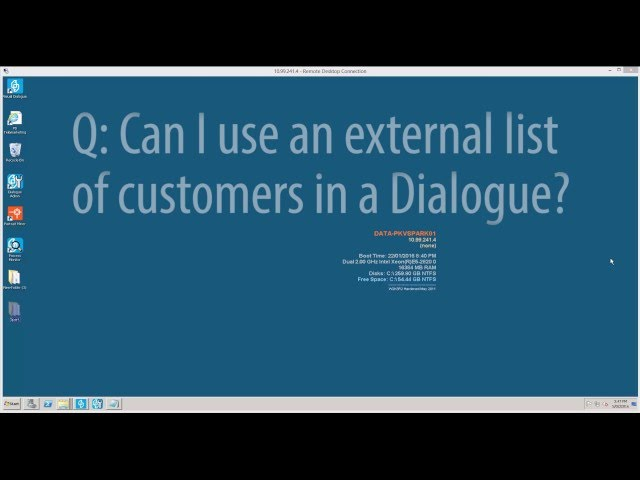 HOW TO: Import a list of customers in Portrait Dialogue