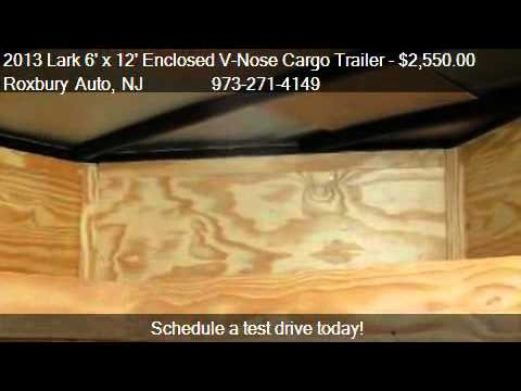 Enclosed Trailer Shelving >> 2013 Lark 6' x 12' Enclosed V-Nose Cargo Trailer 3K Single ...