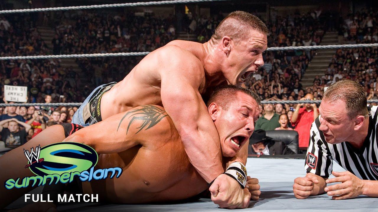 FULL MATCH - John Cena vs. Randy Orton - WWE Title Match: SummerSlam 2007 - YouTube