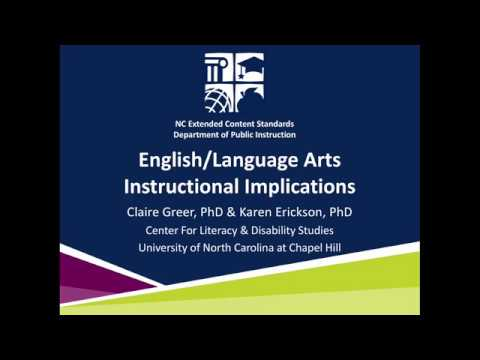 Nc Extended Content Standards Ela Instructional Implications Youtube