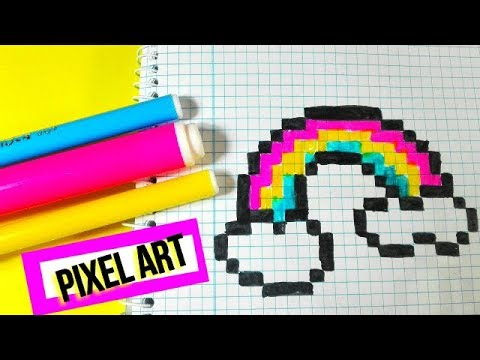 Como Dibujar Un Arcoiris Muy Facil Pixel Art