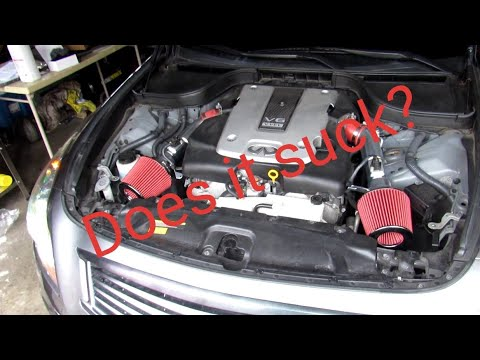 Infiniti g37xs sedan  70$ Amazon/ebay cold air intake |  how to install Cold Air intake on g37