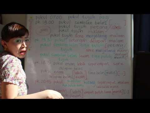 LEARN INDONESIAN LANGUAGE #50 TIME 3.0 O'CLOCK - WAKTU 3.0 PUKUL