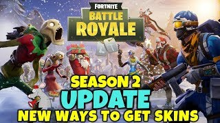 Neues FORTNITE BATTLE ROYALE Update - Neue Battle Pass Skins Emotes Plus Snow Launcher!