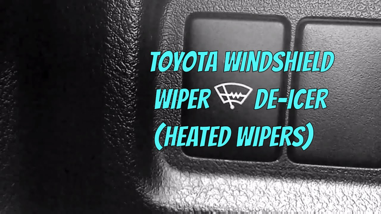 toyota windshield wiper de icer explanation