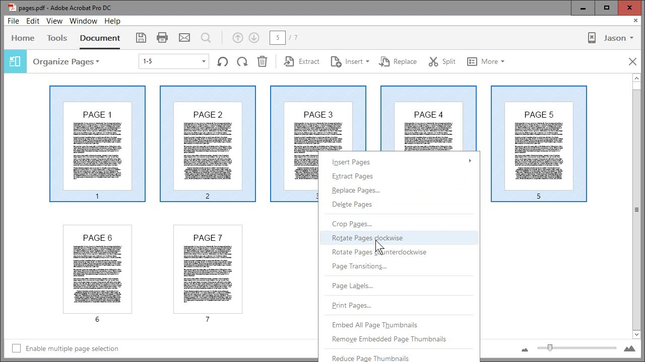 How to rotate pages in adobe acrobat pro dc clockwise or how to rotate pages in adobe acrobat pro dc clockwise or counterclockwise left or right video ccuart Image collections