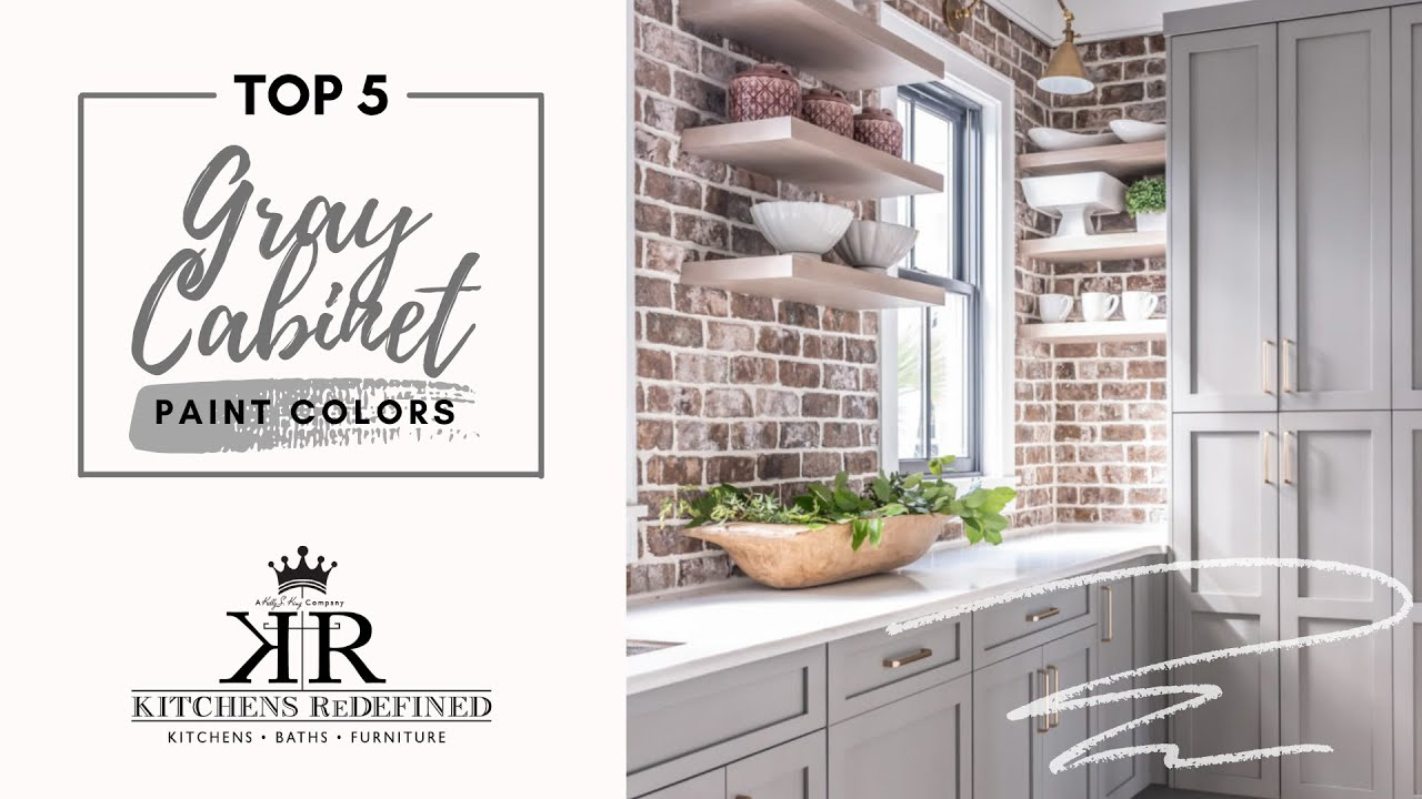 Top 5 Gray Paint Colors For Kitchen Cabinets Kitchens Redefined