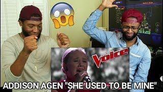 """The Voice 2017 Addison Agen - Top 12: """"She Used to Be Mine"""" (REACTION)"""