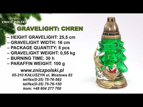 christmas gravelight  CHREN holiday gravelight - New Year's candle with a retinue of reindeer
