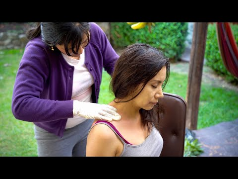 ASMR Head And Neck Massage With Spiritual Cleansing (limpia) In Cuenca, Ecuador