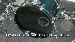 Evans EMAD Bass Drum Test