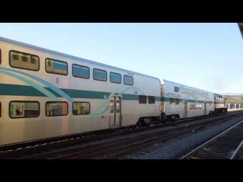Metrolink Orange County Lines Train depart Los Angeles Union Station