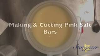 Making Pink Salt Bars Cold Process Soap