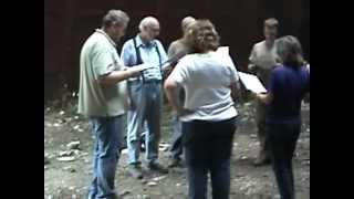 Singing Sacred Harp song in a sawmill burner
