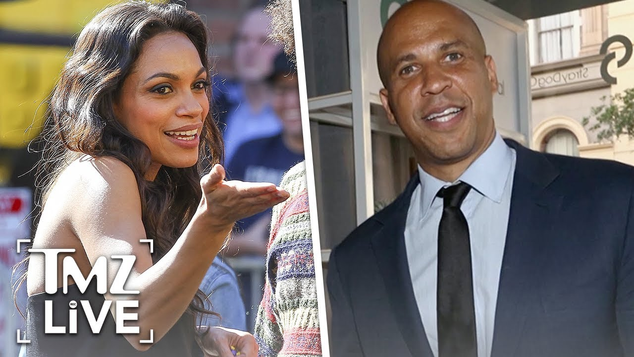 Rosario Dawson Is Dating Cory Booker Tmz Live Youtube