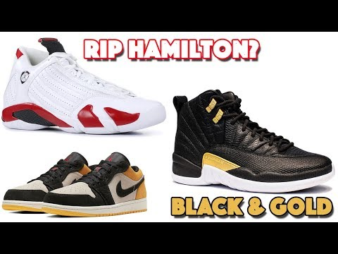 best service c26aa c3d31 AIR JORDAN 14 RIP HAMILTON (CANDY CANE ) JORDAN 12 BLACK GOLD WITH REPTILE