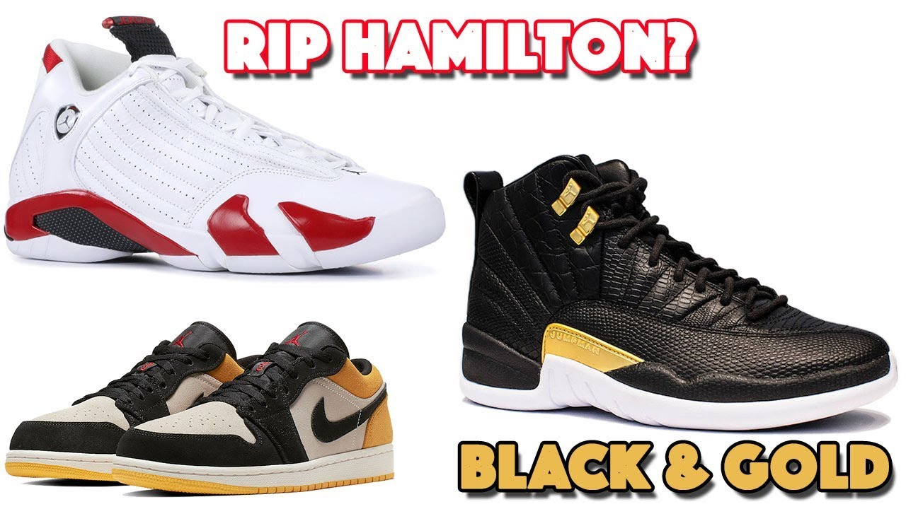 546007f80bcb14 AIR JORDAN 14 RIP HAMILTON (CANDY CANE ) JORDAN 12 BLACK GOLD WITH REPTILE  PRINTS AND MORE