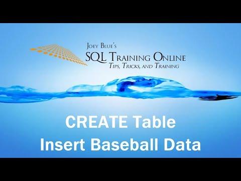Create Table Statement in SQL Server and Inserting Baseball Homerun Leader Dataset