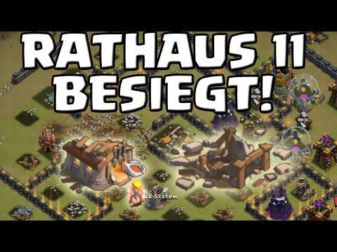 MAXED RATHAUS 11 BESIEGT! - Mega CW || CLASH OF CLANS || Let's Play CoC [Deutsch/German HD+]