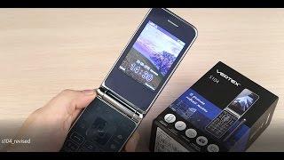Обзор телефона Vertex S104 в корпусе 'раскладушка'