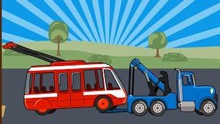 Мультик про машинки. Троллейбус. МанкиМульт