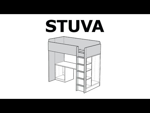 How to assemble the STUVA loft bed frame