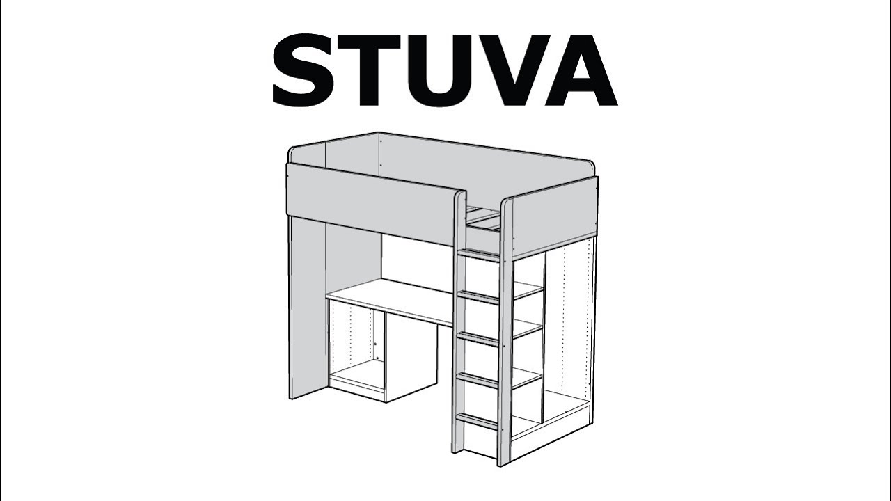 how to assemble the stuva loft bed frame youtube