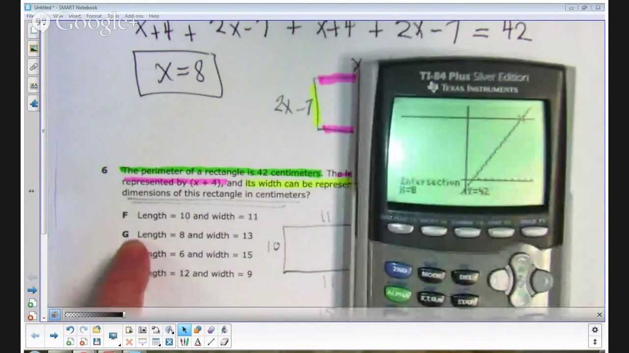 STAAR 2013 Algebra 1 EOC - Analysis of Item 6 - YouTube