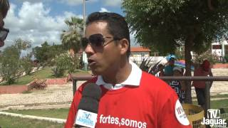Sindicato da APEOC de Palhano realizou manifestação de protesto