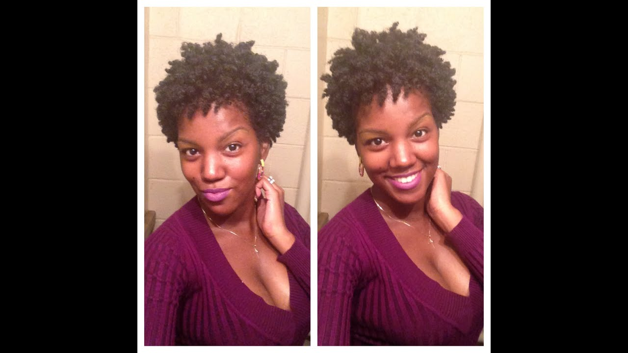 Natural Hair Braid Out On Tapered Cut YouTube
