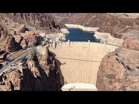 Hoover Dam LOW WATER LEVEL  SUPER LOW 8-17-17