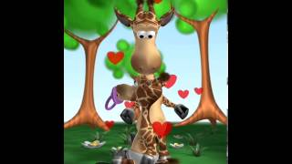 Repeat youtube video Говорящий жираф Джина! Серия 2 Вкусняшки! Talking Gina! Прикол с жирафом! Добрый мультик для детей!
