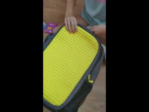Рюкзак Upixel Maxi Черный с желтым (6955185800669)
