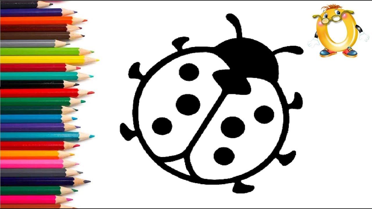 раскраска для детей божья коровка мультик раскраска учим цвета Ii обучашка тв
