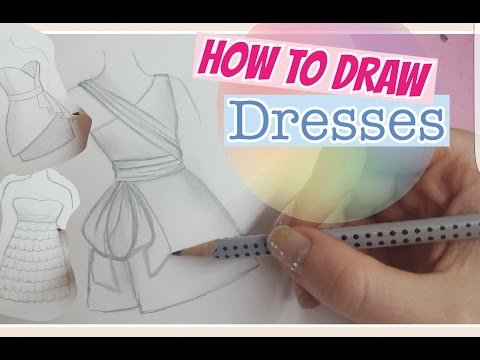 How To Draw Dresses Easy Kleider Malen Foxy Draws Youtube