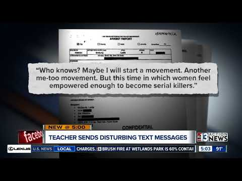 Teacher arrested for terroristic threats wrote 'Vegas will lose its luster after me'