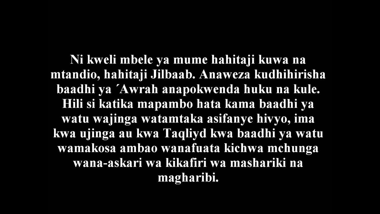 522- Mume Anataka Mke Avae Suruwali - Shaykh Dr. ´Ubady al-Jaabiriy #1