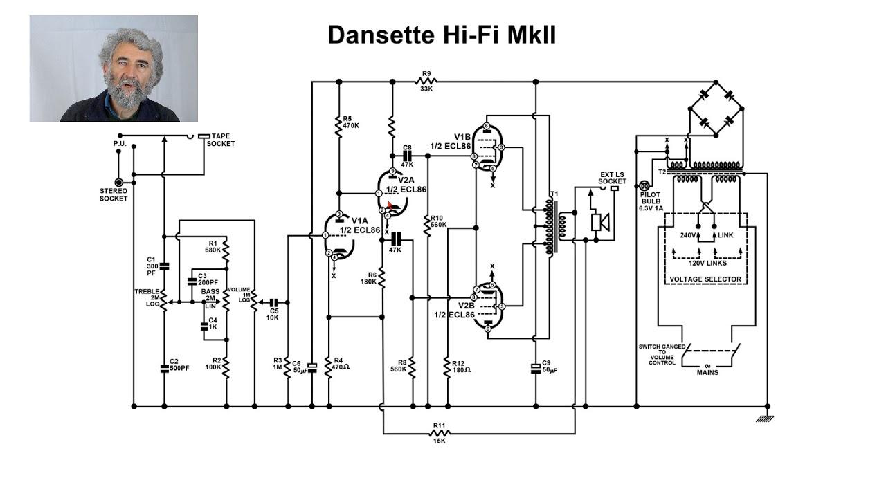 valve amplifier study 004  dansette hifi mk 2  twin ecl86