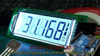 ทดลองเล่นจอผลึกเหลว HT1621 lcd display with arduino and ds18b20