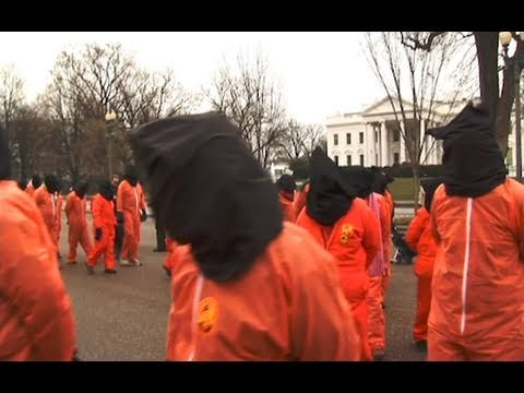 Protest Against Obama Guantanamo Policy